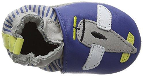 Robeez Baby Jungen Jet Lag Lauflernschuhe für Babys Bleu (Bleu Klein)