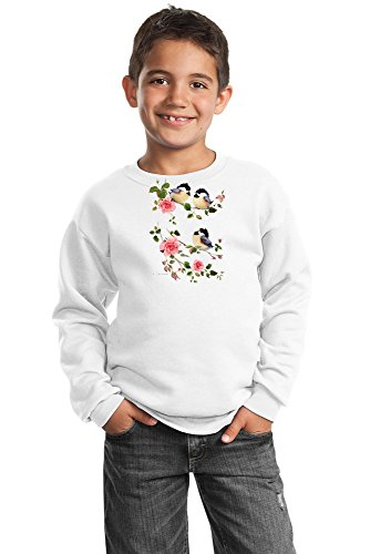 (Chickadee Youth Sweatshirt - Chicks & Roses)