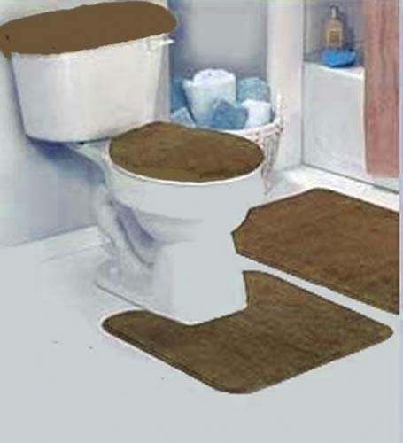 Amazon Dark Brown Bathroom Rug Set 4 Pc Kitchen Dining