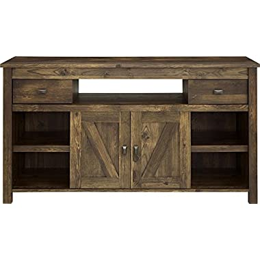 Ameriwood Altra Farmington TV Stand, Century Barn Pine, 60 , Coffee House Plank/White