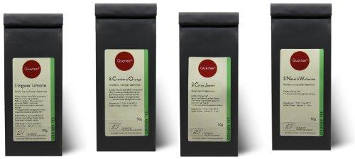 Grüntee Probierset Biotee Quertee® Nr. 4 - 4 x 50g Bio Tee -