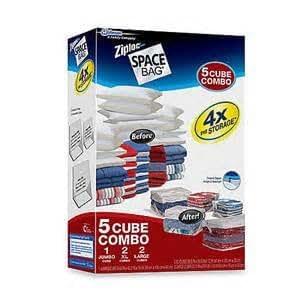 Amazon Com Ziploc Space Bag 5 Cube Combo Home Amp Kitchen