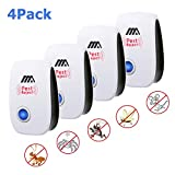 Dumax Ultrasonic Pest Repeller, 4 Pack Electronic Plug in Pest Control Mosquito Repellent for Mice, Rats, Bugs, Spiders, Roaches, Flies, Ants, Fleas and Other Insects, Humans & Pets Safe