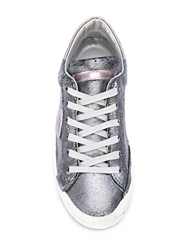 Philippe Donna Model Argento Clldys01 Sneakers Pelle qq76wrEY