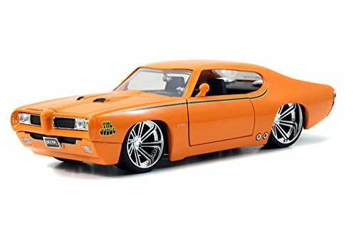1969 Pontiac GTO Judge, Orange - Jada Toys 90217 - 1/24 scale Diecast Model Toy Car