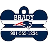 NFL Team Dog Tag Pet Id Tag Personalized w/ Name & Number (New England Patriots)