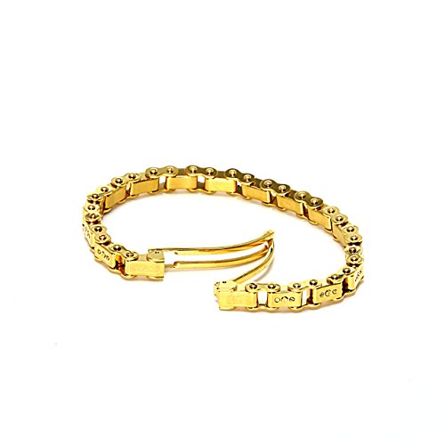 IceLink-Mila-Gold-PVD-Thin-Link-Unisex-Bicycle-Chain-Bracelet