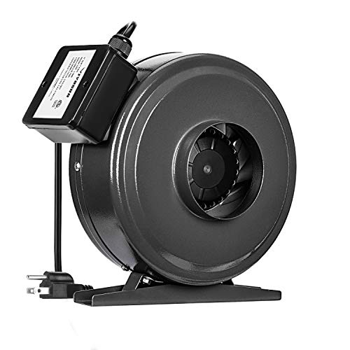 VIVOSUN 4 Inch 203 CFM Inline Duct Fan Vent Blower Ventilation Fan for Grow Tent ETL Certified