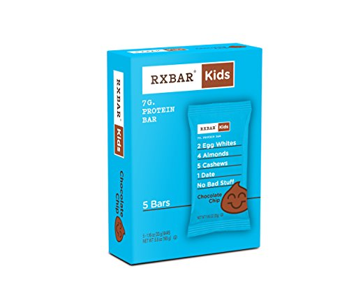 RXBAR Kids Whole Food Protein Bar, Chocolate Chip, 5 Count
