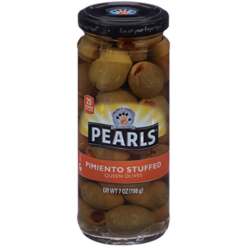 Pimiento Olives Stuffed (Pearls (6) 7oz Pimiento Stuffed Queen Olives)