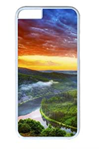 Amazon river Custom iphone 6 plus 5.5 inch Case Cover Polycarbonate White