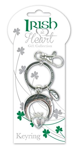 Claddagh Irish At Heart Keychain with Bag Clip