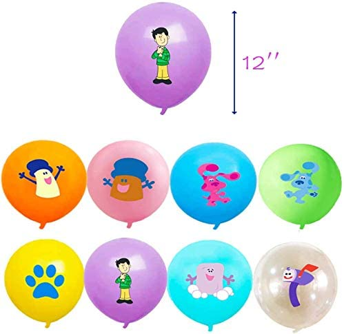 32pcs blues clues celebration provides blues clues celebration provides latex balloons,8 taste each and every 4pcs balloon celebration provides, for blues clues theme birthday celebration ornament