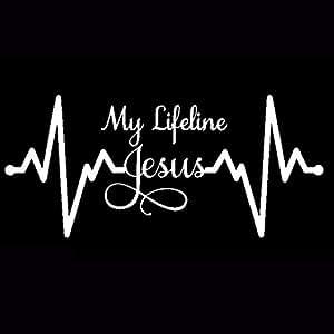 Amazon.com: Brave669 My Lifeline Jesus Graph Sticker ...