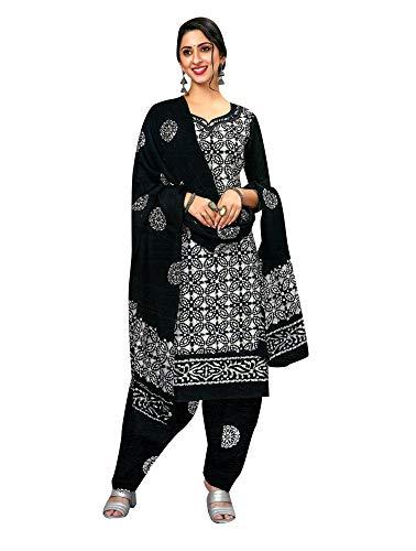 ladyline Cotton Traditional Batik Printed Salwar Kameez Womens Ready to Wear Indian Dress