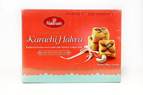 Special Raksha Bandhan Gift Pack - 1) Designer Rakhi, and 2) Haldiram Classic Indian Karachi Halwa-500g. Halwa Mix