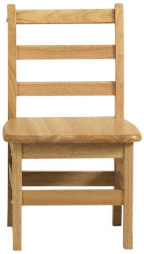"ECR4Kids 18"" Hardwood 3-Rung Ladderback Chair, Natural (2-Pack)"