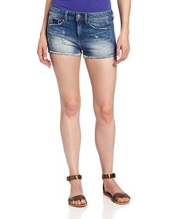 G-Star Raw Women's Ripped Shorts, Medium Aged Destroyed, 24