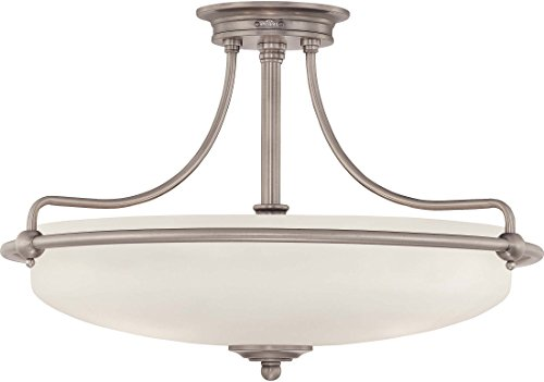 "Quoizel GF1721AN Griffin Semi-Flush Ceiling Lighting, 4-Light, 400 Watts, Antique Nickel (14"" H x 21"" W) from Quoizel"