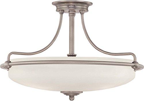 - Quoizel GF1721AN Griffin Semi-Flush Ceiling Lighting, 4-Light, 400 Watts, Antique Nickel (14