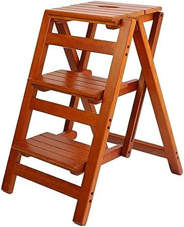 XIN Escaleras multiusos para niños Taburete con escalones Taburete alto multifuncional Silla plegable con escalera Taburete con peldaños de madera maciza Taburete con peldaños de doble escalón multiu: Amazon.es: Bricolaje y herramientas