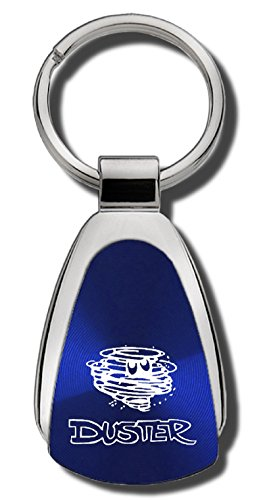 Mopar Plymouth Duster - The Car Guy Superstore Plymouth Duster Blue Teardrop Shaped Key Chain Keychain FOB Ring Lanyard