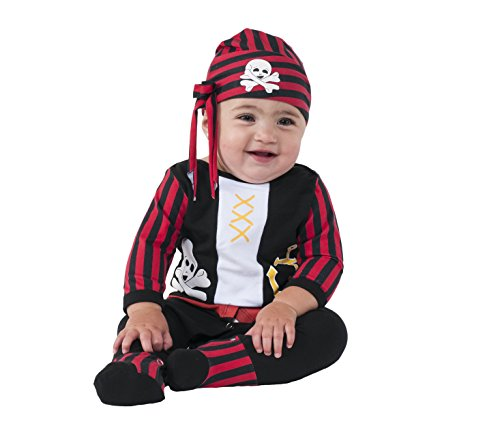 [Rubie's Costume Co Baby Boys' Pirate Boy Costume, Multi, 0-6 Months] (Toddler Boys Pirate Costumes)