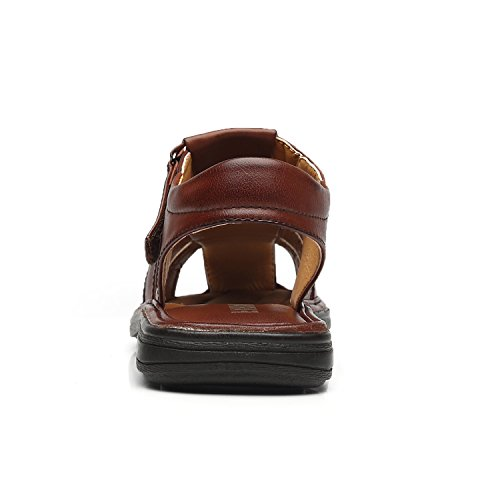 Sandals Shoes Adjustable Petrichor Toe Men Sports Mens 1 Comfortable Strap Casual for Outdoor cognac Faranzi Sandals Summer Closed Fisherman 8pxx1ZP