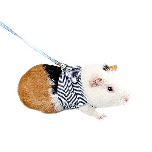 ASOCEA Guinea Pigs Adjustable Soft Cotton Harness and Lead Set for Rats Iguana Hamster Ferrets Small Animal