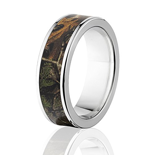 RealTree Xtra Official 7mm Ring, Titanium Camouflage Rings by Official Licensed Realtree Rings