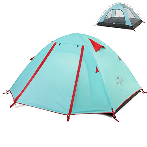 TRIWONDER 2-3-4 Person 3 Season Camping Tent Double Doors Lightweight Waterproof Double Layer Backpacking Tent for Camping Hiking (Powder Blue, 3-4 Person)