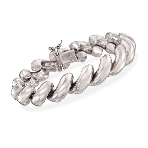 Spiral Silver Sterling Bracelet (Ross-Simons Italian Sterling Silver Large San Marco Bracelet)