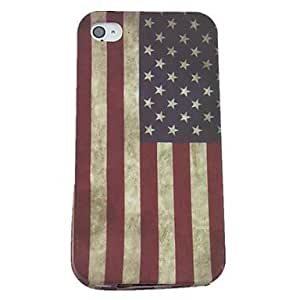 US Flag Design Pattern Soft Case for iPhone 4/4S