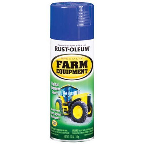 Tractor Paint - Rust-Oleum 7424830 Specialty Farm Equipment Spray Paint, 12 oz, Ford Blue