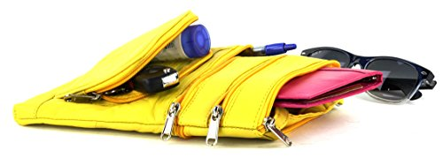 Pockets Leather Bags Use Yellow Purse Multi 5 Day Every For With Crossbody For Genuine Women Bacci 5H1ZwqHtv