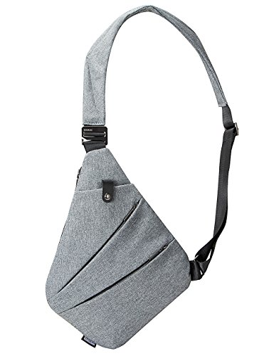 Sling Bag Chest Shoulder Backpack Crossbody Bags for Men Boys Travel Outdoors (Grey)