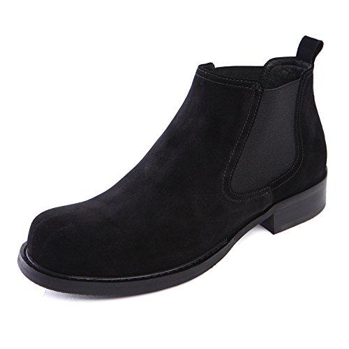 Die britischen männer lederschuhe stiefel lederstiefel hohe stiefel für chelsea Geschäft kleid,schwarz,42