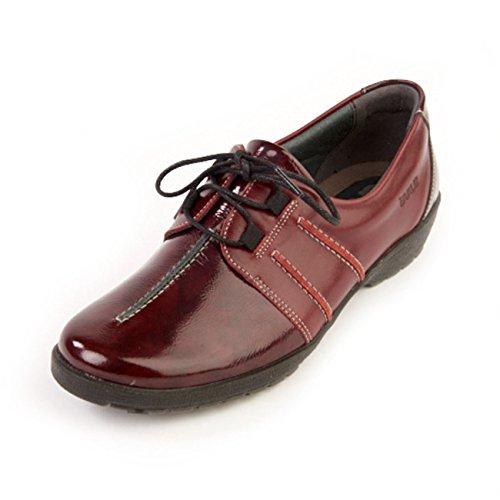 de Otra de mujer para cordones granate Piel Zapatos Suave vxT5wOq7x