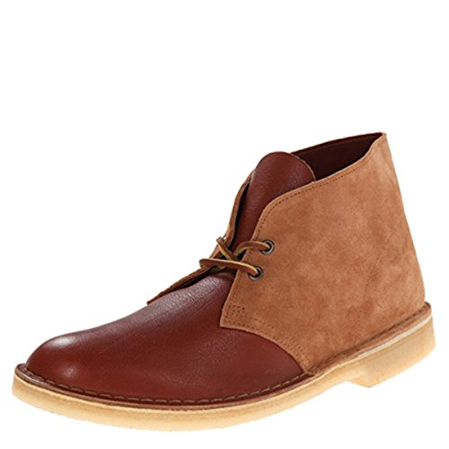 Clarks Mens Desert Boot Tan Combi 06086 (us8 (d))