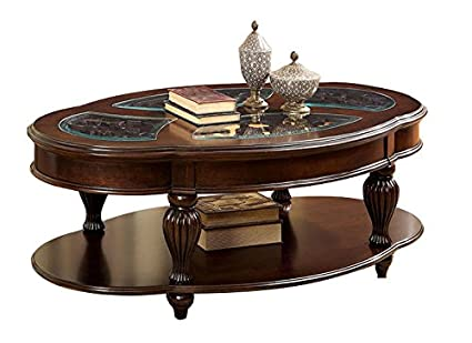 Bernadine Dark Cherry Coffee Table