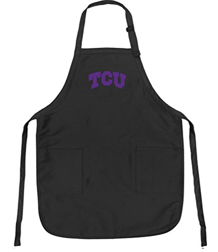 Broad Bay Texas Christian Aprons NCAA TCU Apron w/Pockets - Bbq Christian Apron