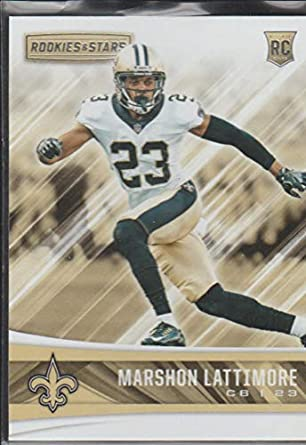 2017 R S Marshon Lattimore Saints Rookie Football Card  244 at ... cc771dfb9