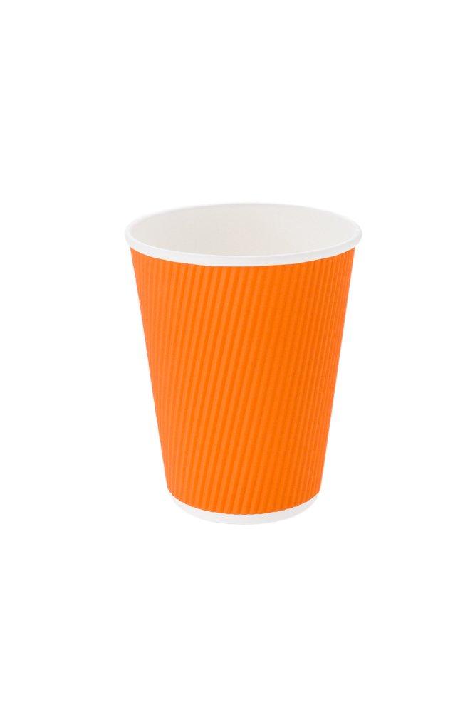Restaurantware RWA0279T-25 Disposable Coffee Cup, 12 oz, Tangerine Orange