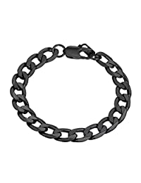 Cuban Chain Bracelet Men 316L Stainless Steel 8MM Wide Hand Chain Bracelet Men Jewelry Gift for Him, PSH3008