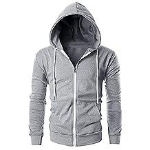 Big Mens Slim Fit Long Sleeve Lightweight Zip-up Hoodie Pocket
