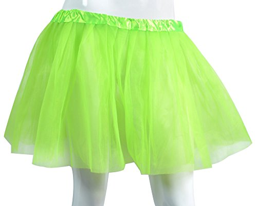 Party 80s Outfits (Big Girls Tutu Skirt Classic 3 Layered Tulle Princess Ballet Dance Running Party)