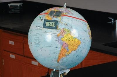 Why We Have Seasons: Giant Earth Model with Built-In Solar Panel Digital Display