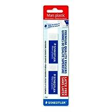 Staedtler Mars Plastic Eraser, 2 Each (52650BK2)