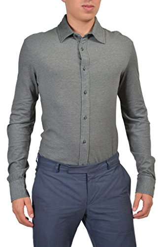 Armani Jeans Gray Button Front Long Sleeves Men's Casual Shirt US XL IT 54;