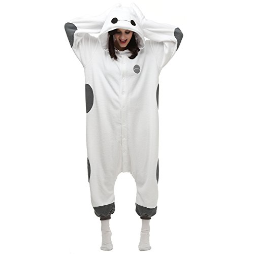 VU ROUL Unisex Adults Costumes Baymax Onesie Pajamas UK Small -